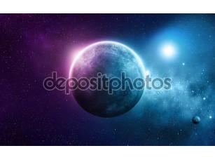Фотообои «Глубокий Космос Планета»