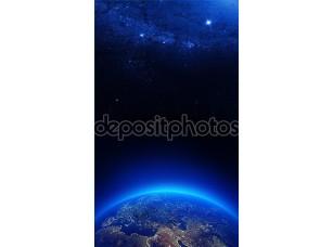 Фотообои «Земля в ночных огоньках»