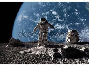 Фотообои «Астронавт на луне»