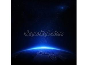 Фотообои «Земля ночью с городскими огнями»