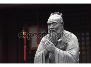 Фотообои «Статуя Конфуция в конфуцианский храм в Шанхае, Китай»