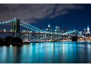 Фотообои «Бруклинский мост и Манхэттен, Нью-Йорк»