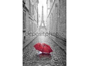 Фотообои «Эйфелева башня вид с улицы Парижа»
