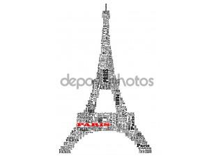 Фотообои «Абстрактные Эйфелева башня»