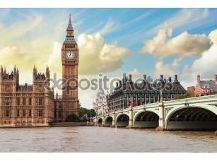Фотообои «Биг-Бена, дома парламента и Вестминстерский мост»
