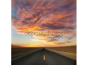 Фотообои «Дорога до заката»