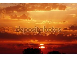 Фотообои «Великолепный закат небо»