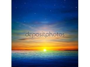 Фотообои «Абстрактный фон с облаками и море восход»