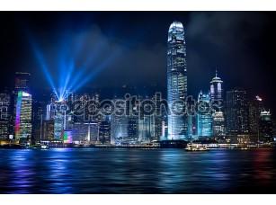 Фотообои «Hong Kong световое»