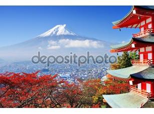 Фотообои «Гора Фудзи осенью»