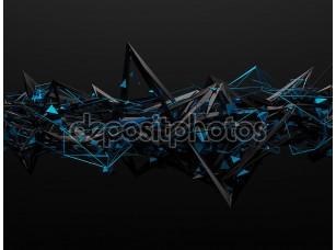 Фотообои «Абстрактные 3d-рендеринга хаотичной структуры.»