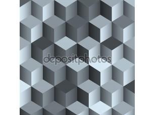 Фотообои «3D монохромный фон с кубом»