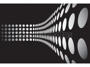 Фотообои «3D точки стены макет»