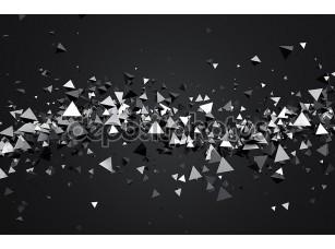 Фотообои «Абстрактные 3d рендеринга летающих пирамиды.»