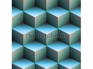 Фотообои «3D кубов в голубом»