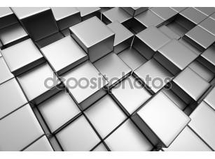 Фотообои «Абстрактный фон городских 3d блоков»