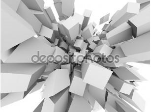 Фотообои «Абстрактные 3D кубов взорваться фон.»