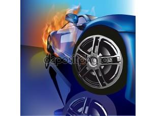 Фотообои «Векторные иллюстрации. Спортивный Легковой автомобиль»