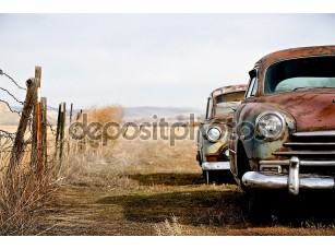 Фотообои «Винтажные машины»