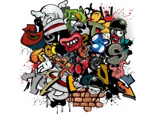 Фотообои «Graffiti elements»
