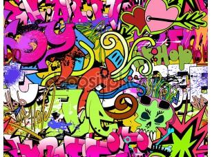 Фотообои «Hip-hop style» граффити