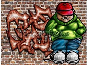 Фотообои «Граффити на стене»