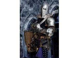 Фотообои «Вооруженные Рыцарь охрана некоторых замок»