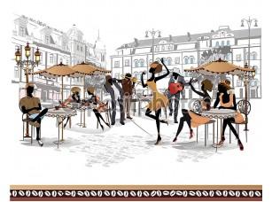 Фотообои «Арт уличных кафе»