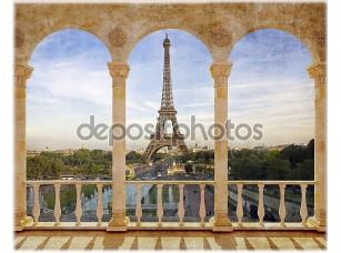 Фотообои «Терраса с видом на Париж»