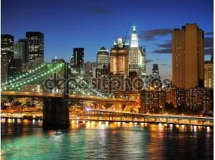 Фотообои «Big apple после захода солнца - Нью-Йорк экономных»