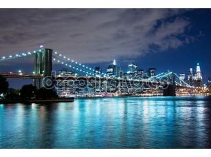 Фотообои «Бруклинский мост ночью»