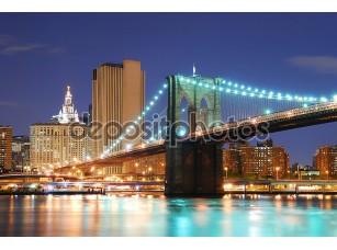 Фотообои «Бруклинский мост в Нью-Йорке Манхэттене»