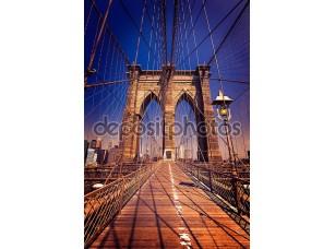 Фотообои «Бруклинский мост и Манхэттен Нью-Йорк нас»
