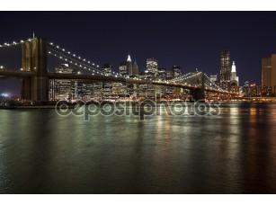 Фотообои «W горизонта Нью-Йорк Бруклинский мост»