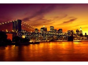 Фотообои «Бруклинский мост на закате»