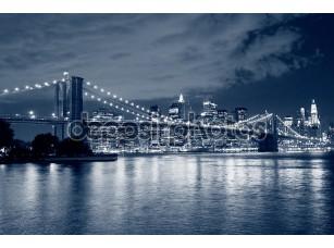 Фотообои «Бруклинский мост и манхэттенский горизонт»