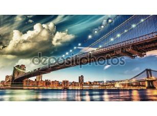 Фотообои «Бруклинский мост Парк, Нью-Йорк. Манхэттен на лето»