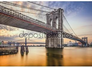 Фотообои «Бруклинский мост в Нью-Йорке, США»