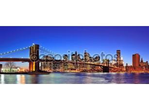 Фотообои «Бруклинский мост в Манхэттене Нью-Йорк Сити»