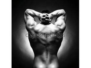 Фотообои «Голый сильный спортсмен»