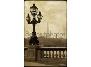 Фотообои «Фонарный столб на мост Александра iii в Париже, Франция»