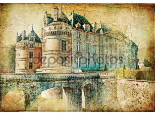Фотообои «Old medieval castle - picture in vintage style»