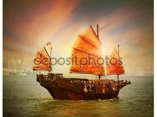 Фотообои «гонконгская лодка барахла»