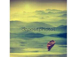 Фотообои «Восход солнца в туманной долине»