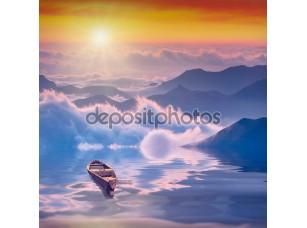 Фотообои «Горный восход солнца»