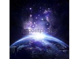 Фотообои «вид на землю от пространства ночью - США»