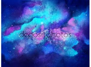 Фотообои «акварельный космос.»