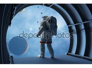 Фотообои «Астронавт в космосе»