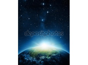 Фотообои «Земля с восходом солнца»