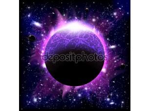 Фотообои «Горящая планета»
